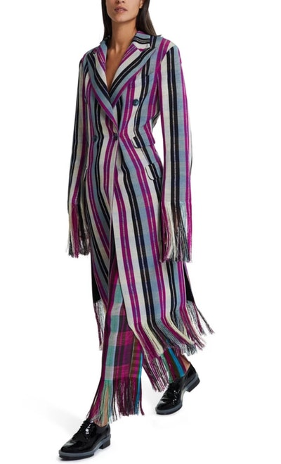 Yaba Long Fringed Coat