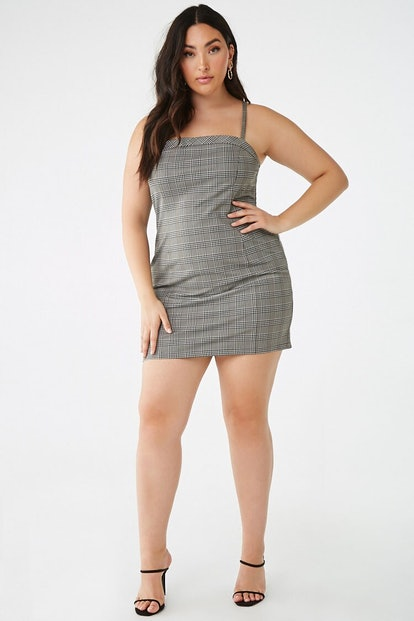 Plus Size Glen Plaid Mini Dress