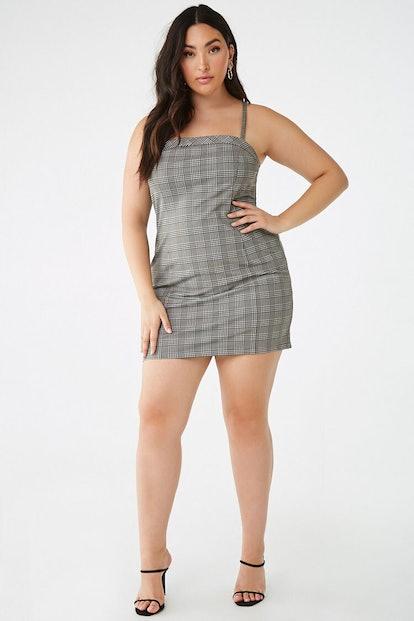 Plus Size Glen Plaid Mini Dress