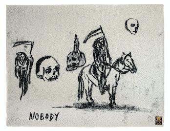 Indigofera x Wes Lang IV Nobody Wool Blanket