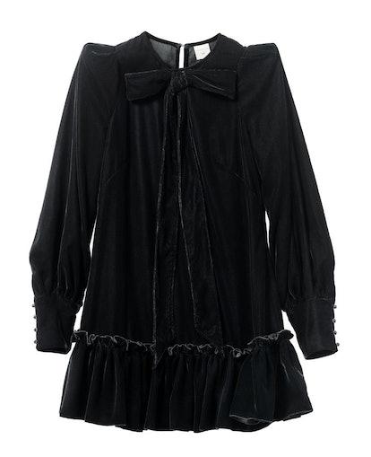 H&M x the Vampire's Wife Velvet Pussy Bow Dress