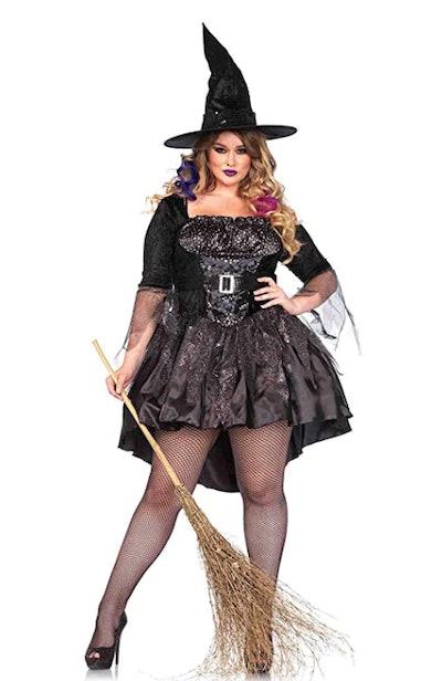 Leg Avenue Women's Plus-Size 2 Piece Black Magic Mistress Witch Costume