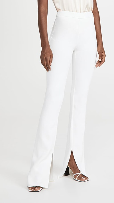 High Waisted Flare Leg Pants