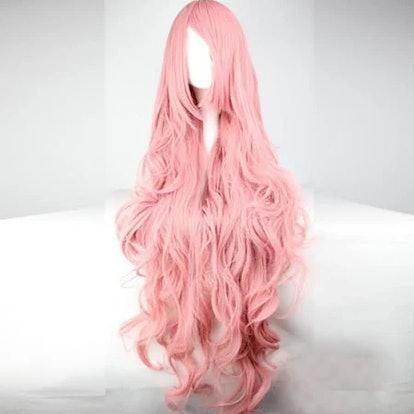 ynthetic Wig Light in the Box Cosplay Wig Wavy Kardashian Wavy Asymmetrical With Bangs