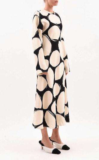 Crepe Midi Dress