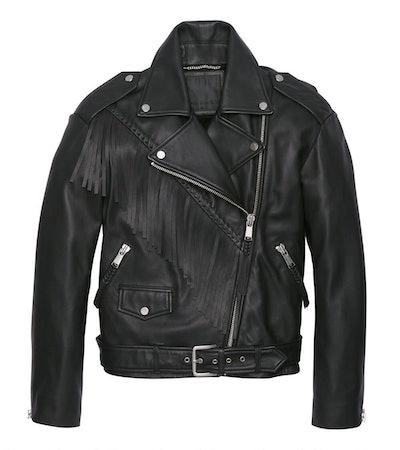Zariah Fringe Moto Jacket