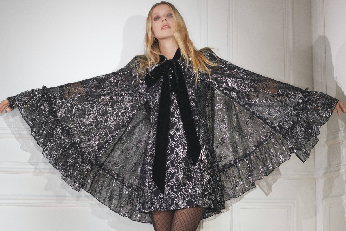 Greta Bellamacina in H&M x the Vampire's Wife dress and cape.