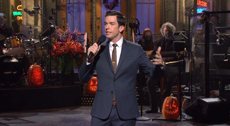 John Mulaney delivering his opening 'Saturday Night Live' monologue on Oct. 31.
