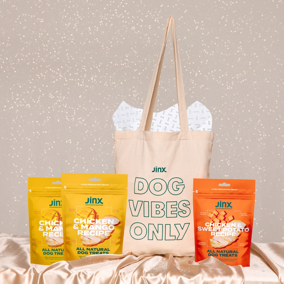 Dog Vibes Only Treat Tote