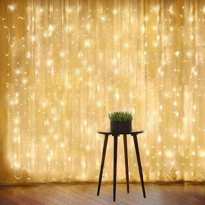 Warm White Window Curtain Lights