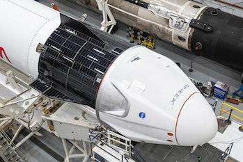 Crew Dragon on the Falcon 9.