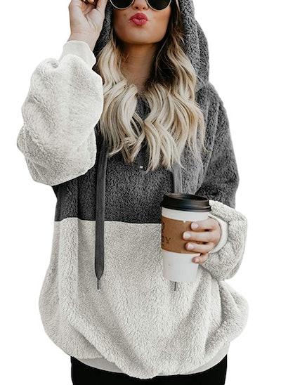 BLENCOT Warm Fuzzy Hooded Sweatshirt