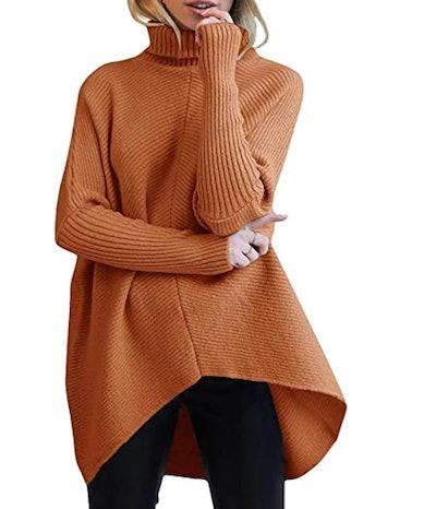 ANRABESS Batwing Sleeve Asymmetric Sweater