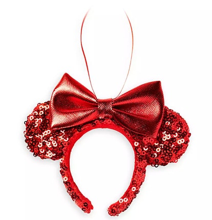 Minnie Mouse Red Sequin Ear Headband Ornament