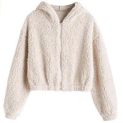 ZAFUL Faux Fur Sweatshirt