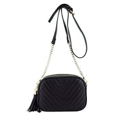 153corp Crossbody Bag with Metal Chain Strap