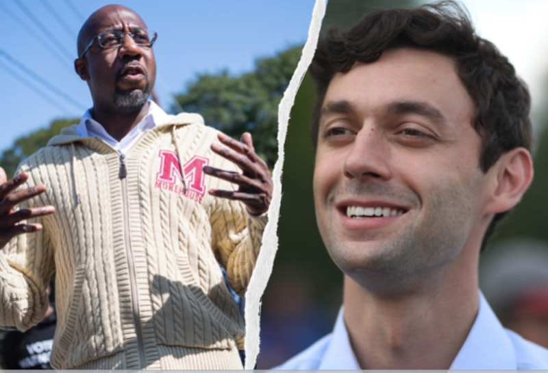 Rev. Raphael Warnock and Jon Ossoff, two of Georgia's runoff candidates for Senate