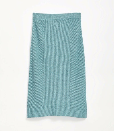 Ribmix Midi Sweater Skirt