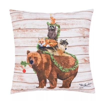 "C&F Home 18"" x 18"" Woodland Yuletide Tree Indoor/Outdoor Pillow"