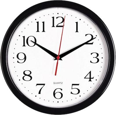 Bernhard Products Black Wall Clock