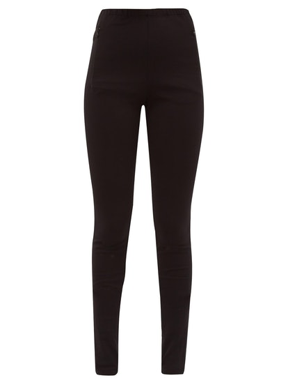 Release 03 zip-cuff jersey leggings