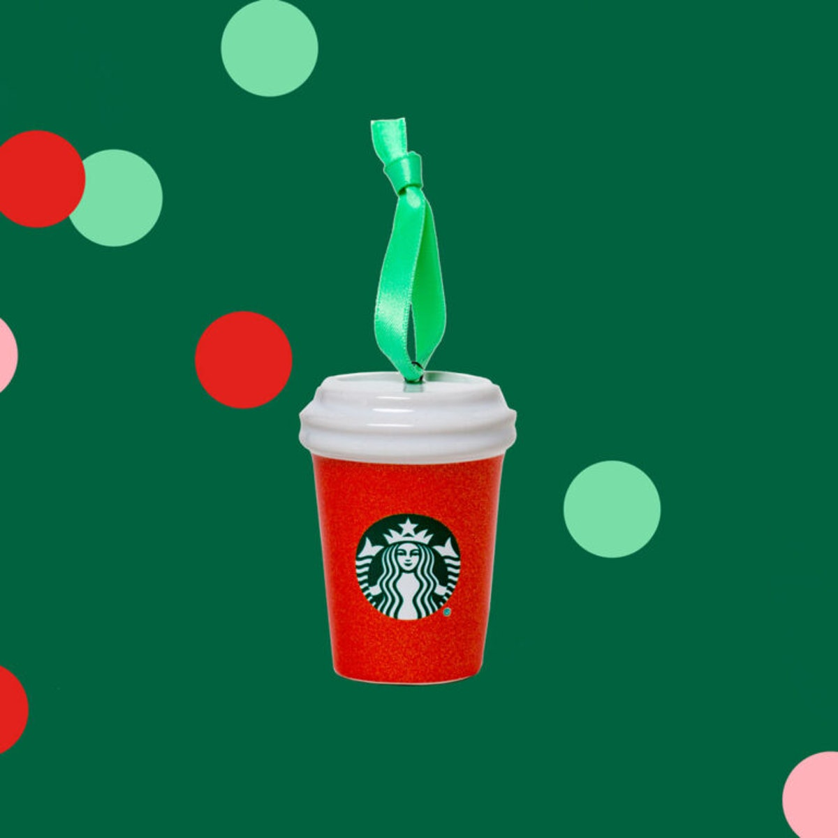 Starbucks' has new holiday merch, including a red cup ornament.