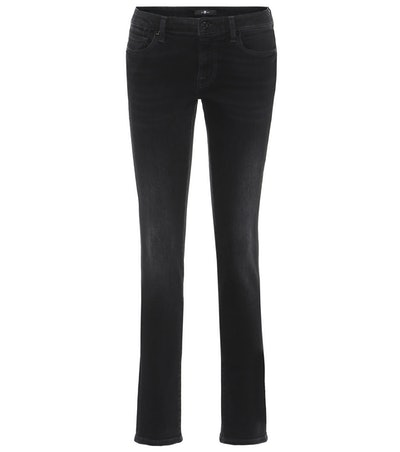 7 For All Mankind Pyper Mid-Rise Slim-Leg Jeans