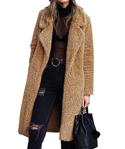 Angashian Fuzzy Fleece Jacket