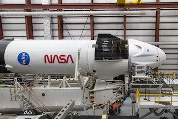Crew Dragon preparing for launch.