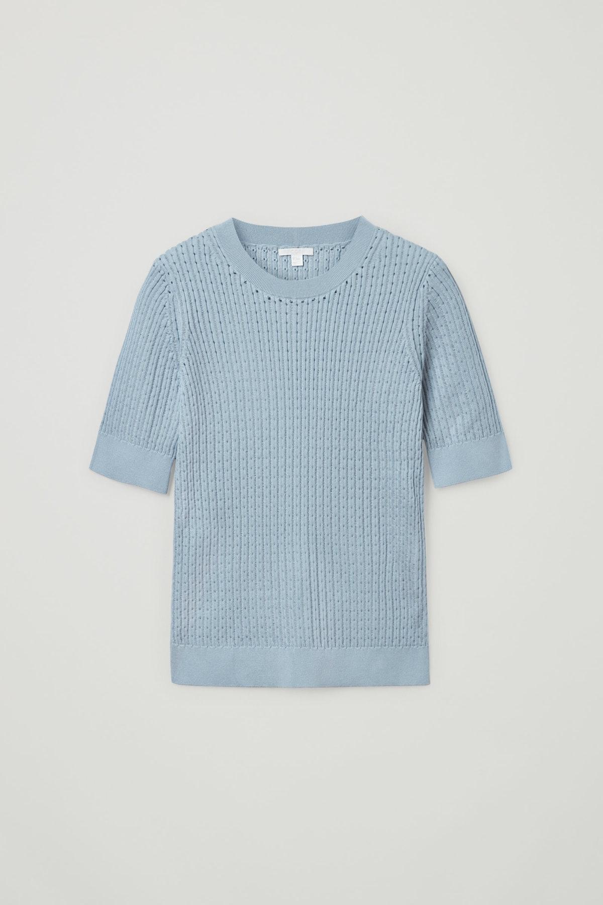 Knitted Silk Blend Top