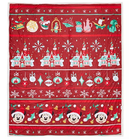 Mickey Mouse Disney Parks Holiday Throw Blanket