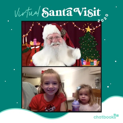 The Chatbooks virtual Santa visit also comes with a photo.