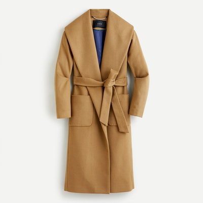 Wrap Coat in Italian Wool-Cashmere