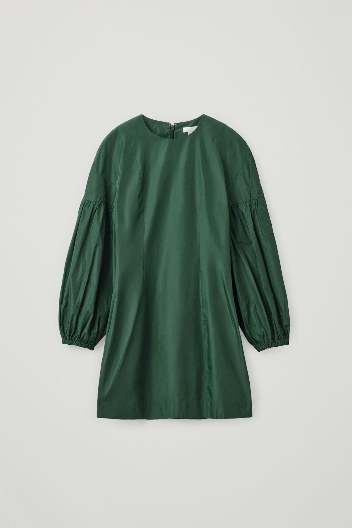 Volume Sleeve Waisted Dress