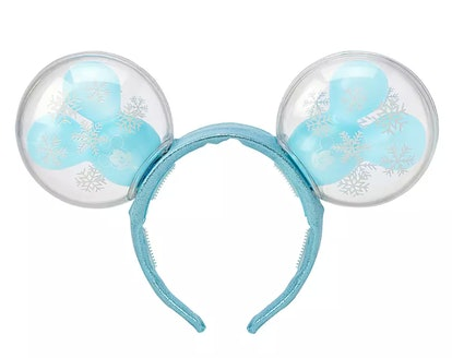 Mickey Mouse Snowflake Balloon Light-Up Ears Headband for Adults