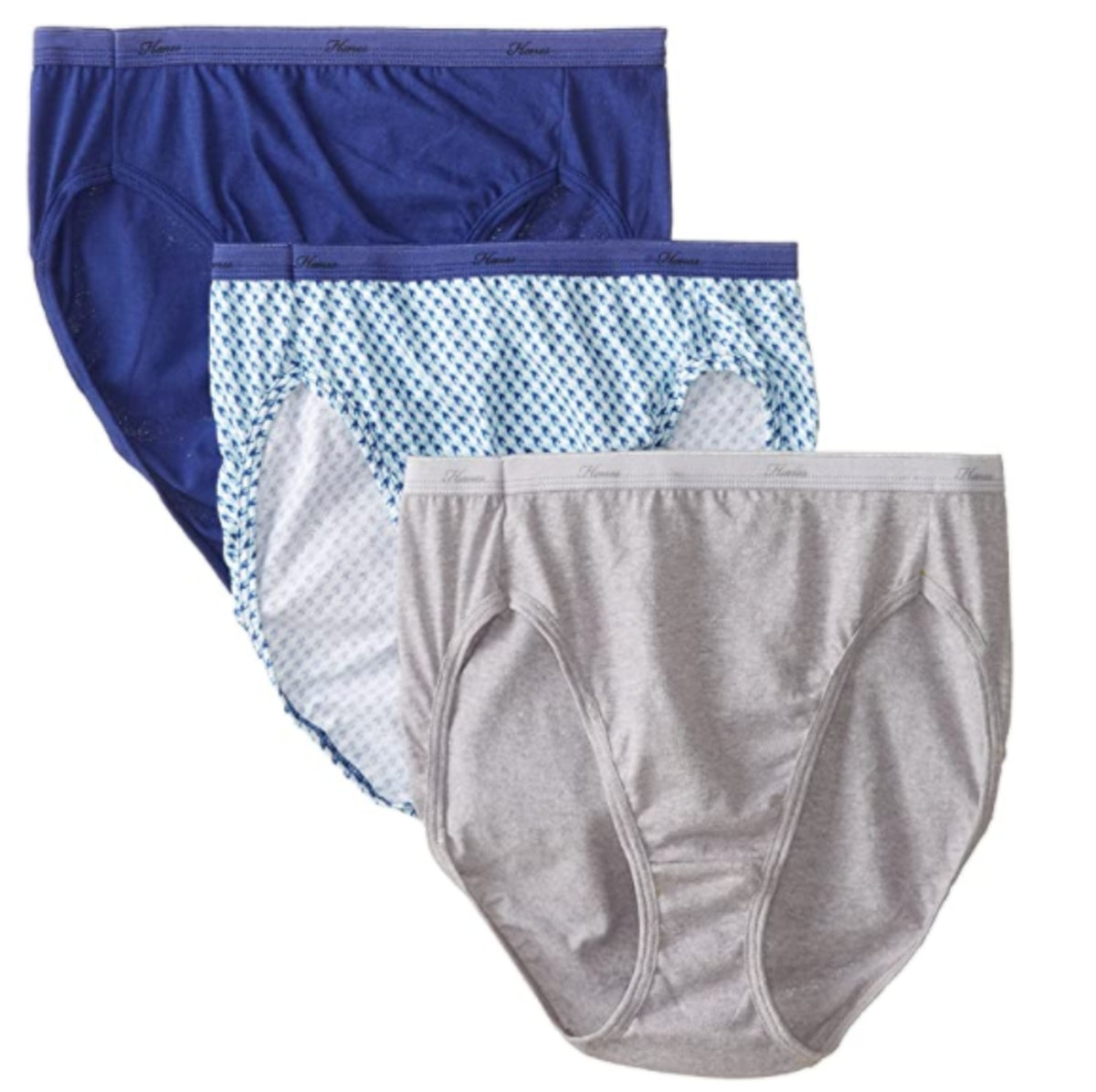 Hanes Cotton Hi Cut Panty Multipack (3-Pack)