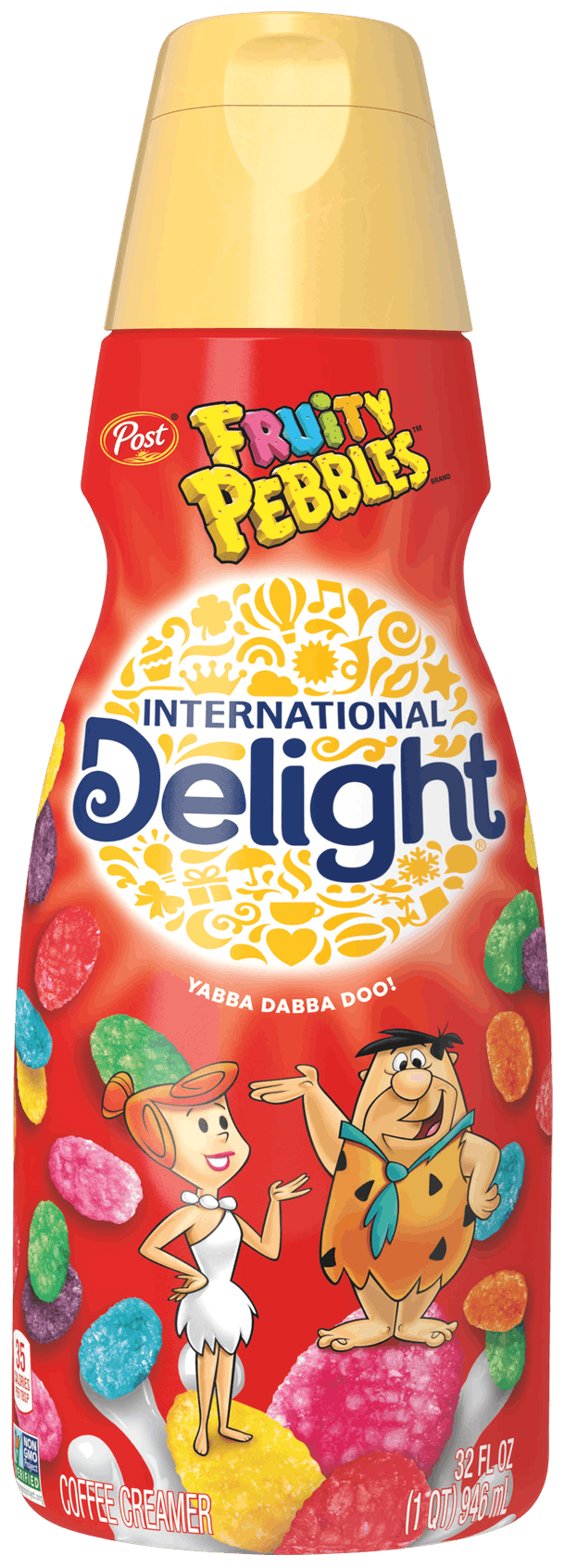 International Delight's new Fruity Pebbles & Cocoa Pebbles Coffee Creamers are available in January 2021 at Walmart