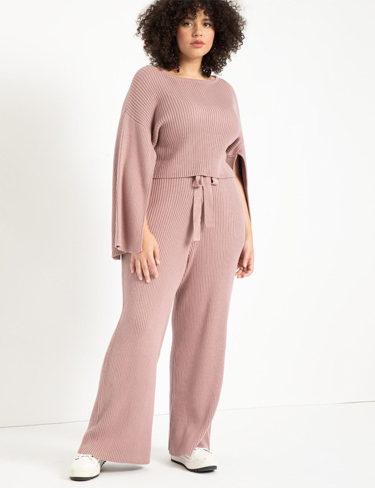 Wide Leg Sweater Pant