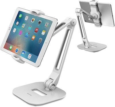 AboveTEK Long Arm Aluminum Tablet Stand