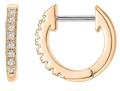 PAVOI 14K Gold Plated Cubic Zirconia Earring Cuff