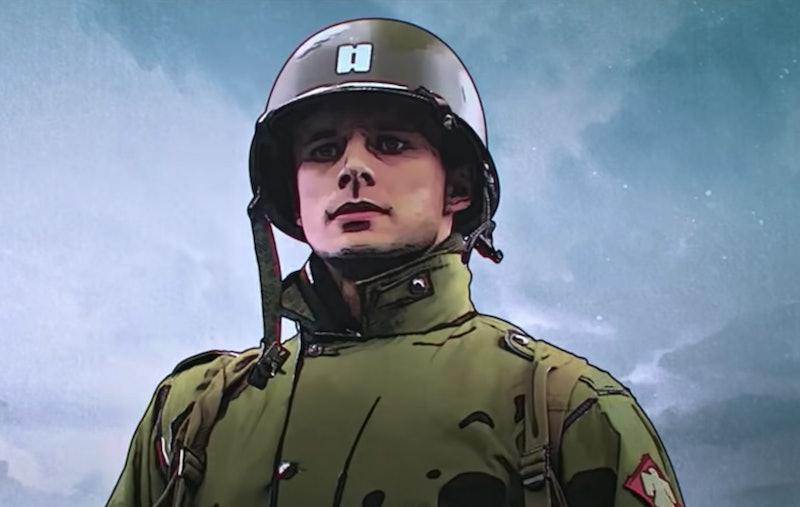 Bradley James as Captain Sparks in Netflix's 'The Liberator.' Photo via Netflix.