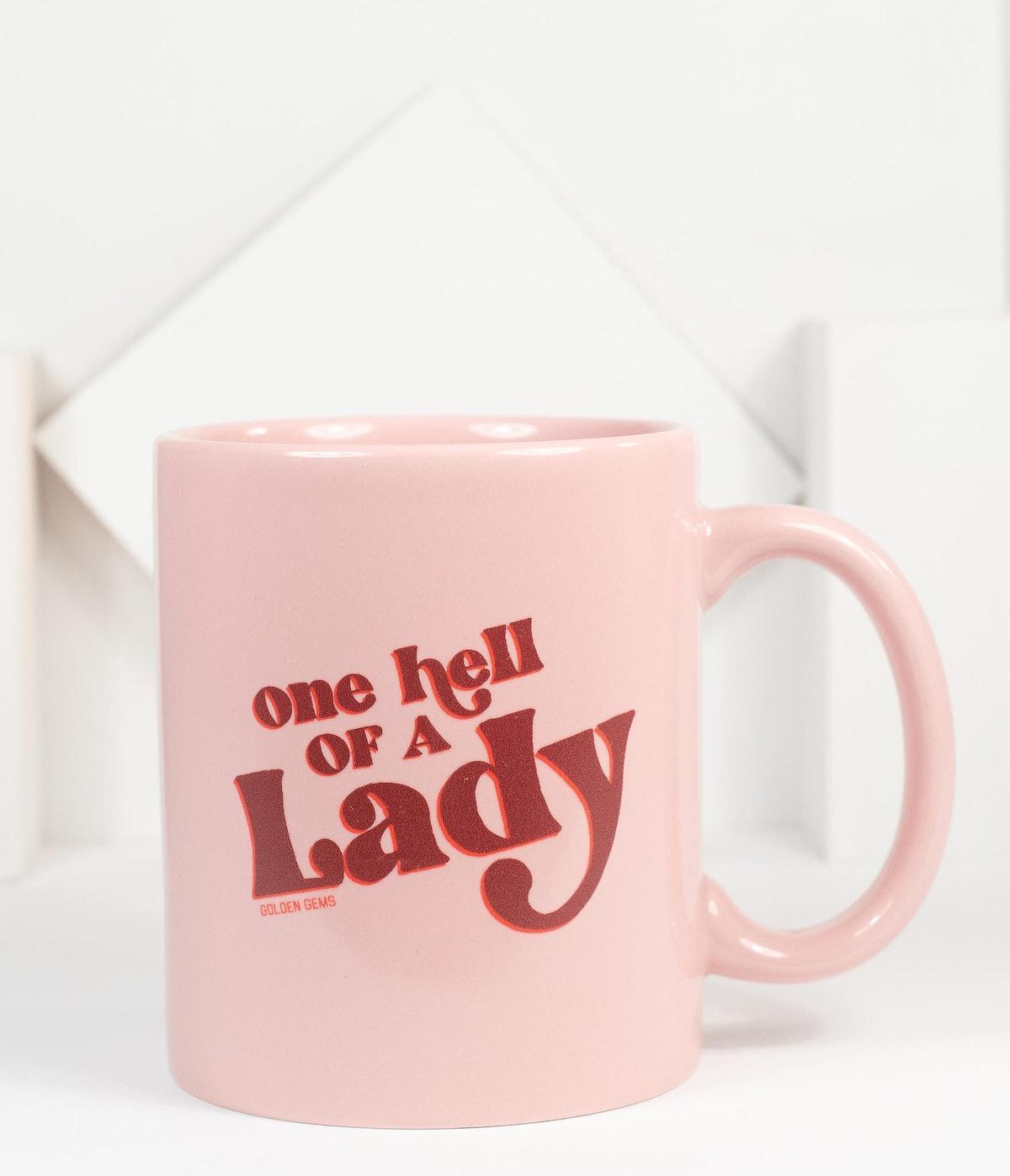 One Hell Of A Lady Coffee Mug