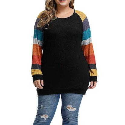 Aleegrace Plus Size Knit Tunic