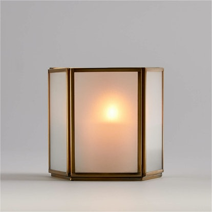 Andelyn Small Frosted Glass Hurricane