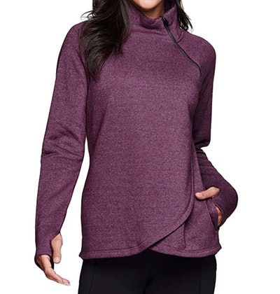 RBX Active Mock Neck Fleece Pullover Sweatshirt