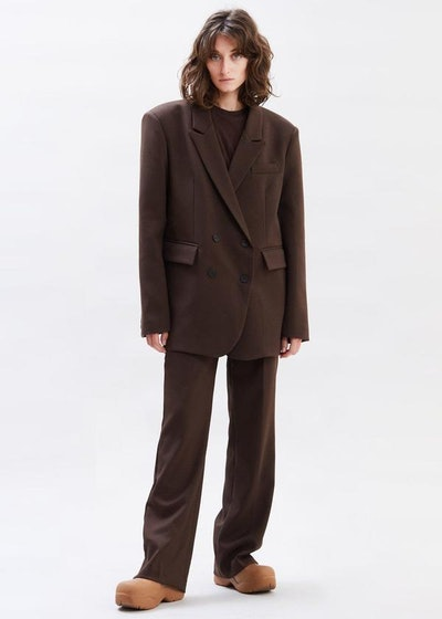 Oversized Double Breasted Suit Blazer