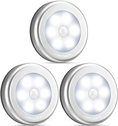 URPower Motion Sensor Closet Lights (3-Pack)