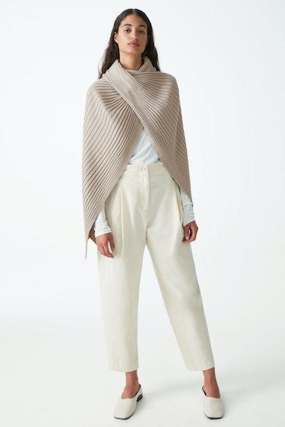 Ribbed Wool Hybrid Scarf