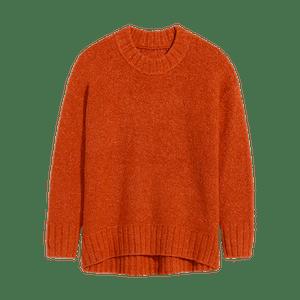 Cozy Shaker-Stitch Mock-Neck Sweater
