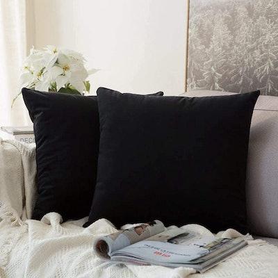 Miulee Velvet Pillow Covers (Set of 2)
